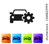 black car service icon isolated ... | Shutterstock .eps vector #1368825995