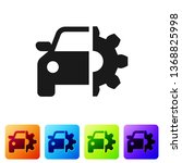 black car service icon isolated ... | Shutterstock .eps vector #1368825998