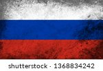 vintage old flag of russia. art ... | Shutterstock . vector #1368834242