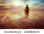 Yoga And Fitness  Silhouette O...