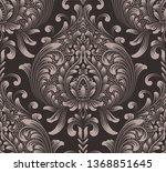 vector damask seamless pattern... | Shutterstock .eps vector #1368851645