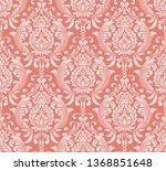 vector damask seamless pattern... | Shutterstock .eps vector #1368851648