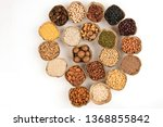 grains are nutritious on a... | Shutterstock . vector #1368855842