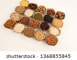 grains are nutritious on a... | Shutterstock . vector #1368855845