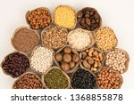 grains are nutritious on a... | Shutterstock . vector #1368855878