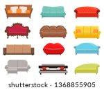 sofa collection. comfortable... | Shutterstock .eps vector #1368855905