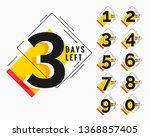 number of days left modern... | Shutterstock .eps vector #1368857405