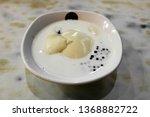 milk and powder round  tofu... | Shutterstock . vector #1368882722