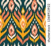 ikat textile seamless pattern.... | Shutterstock . vector #1368913922