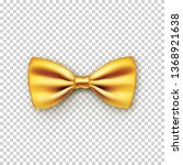 stylish gold bow tie from satin ... | Shutterstock .eps vector #1368921638