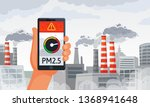 air pollution alert. pm2.5... | Shutterstock .eps vector #1368941648