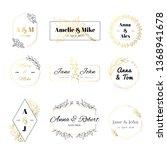 wedding invitation labels.... | Shutterstock .eps vector #1368941678