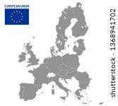 european union map. eu member... | Shutterstock .eps vector #1368941702