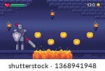 retro computer games level.... | Shutterstock .eps vector #1368941948