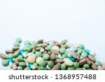 pile  of colorful pills  ... | Shutterstock . vector #1368957488