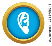 ear icon blue isolated on white ...   Shutterstock . vector #1368958145