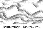 pointillism  abstract waves ... | Shutterstock .eps vector #1368962498