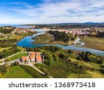 aerial view of the brazo mayor... | Shutterstock . vector #1368973418