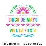 cinco de mayo. viva la fiesta.... | Shutterstock .eps vector #1368985682