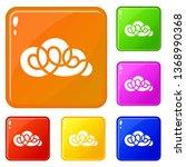 element cloud icons set...
