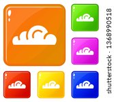 app cloud icons set collection...