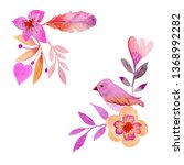 elegant floral greeting card.... | Shutterstock . vector #1368992282
