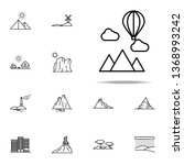 mountains and balloon icon.... | Shutterstock . vector #1368993242