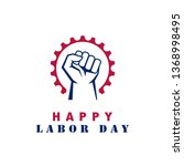 happy labor day vector sign... | Shutterstock .eps vector #1368998495