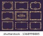 art deco borders. 1920s golden... | Shutterstock .eps vector #1368998885