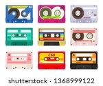 Vintage Music Cassettes. Retro...