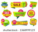 sale banners. price stickers... | Shutterstock .eps vector #1368999125