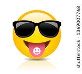 cool clubber emoji vector... | Shutterstock .eps vector #1369007768