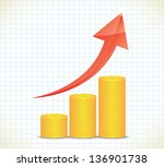 business graph. business... | Shutterstock .eps vector #136901738