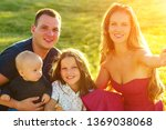 happy family is resting in the... | Shutterstock . vector #1369038068
