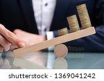 close up of a businessperson... | Shutterstock . vector #1369041242