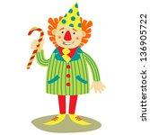 cheerful clown | Shutterstock .eps vector #136905722