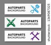 auto parts banner. modern...   Shutterstock .eps vector #1369087325