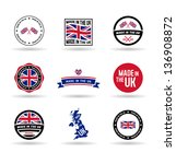 made in the uk. vol 1. | Shutterstock .eps vector #136908872