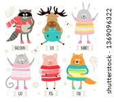 set of illustrations with... | Shutterstock .eps vector #1369096322