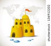 sand castle | Shutterstock .eps vector #136912202