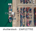 container ship in export import ... | Shutterstock . vector #1369127702