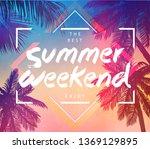 summer inspiration card for... | Shutterstock .eps vector #1369129895