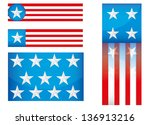 usa vector icon set isolated on ... | Shutterstock .eps vector #136913216