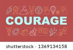 courage word concepts banner.... | Shutterstock .eps vector #1369134158