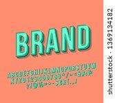 brand vintage 3d vector... | Shutterstock .eps vector #1369134182