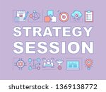 strategy session word concepts... | Shutterstock .eps vector #1369138772