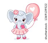 small elephant stands in a... | Shutterstock .eps vector #1369139522