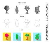 bitmap illustration of tree and ...   Shutterstock . vector #1369140248