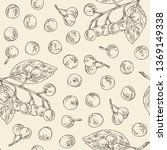 seamless pattern with maqui... | Shutterstock .eps vector #1369149338