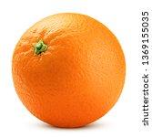 Orange Isolated On White...
